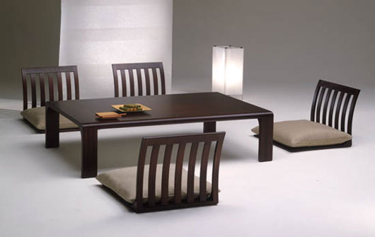 Japanese dining room furniture from hara design for Table japonaise
