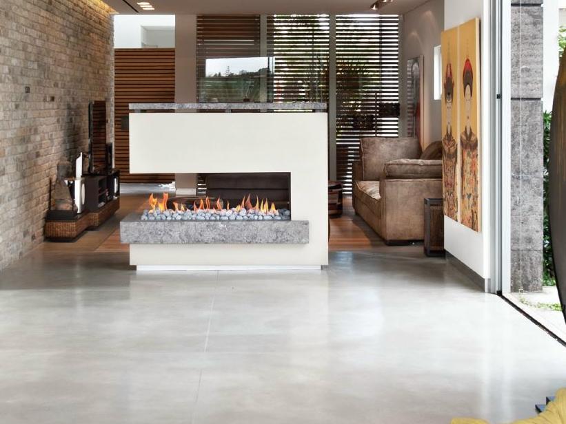 divider fireplace design