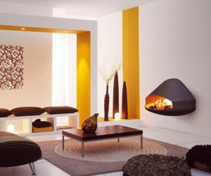 Miofocus Wall Mounted Fireplace by Focus