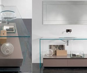 Brillante Glass Vanity by Antonio Lupi