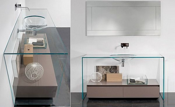 Brillante Glass Vanity by Antonio Lupi
