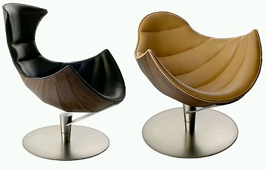 Lobster And Shelly Lounge Chairs By Oluf Lund And Eva Paarmann