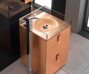 Self Standing Sink by Qin