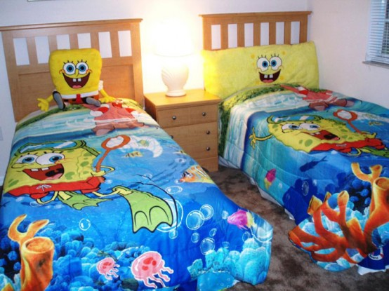 Kids 39 bedroom d cor ideas inspired by spongebob squarepants for Childrens themed bedroom ideas