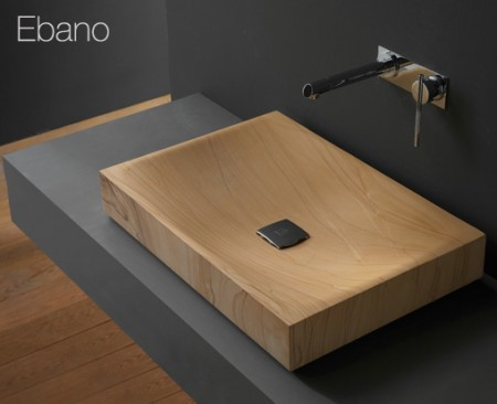 Ebano Furniture Bathroom With Wood Effect