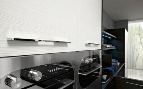 Black And White Minimalist Kitchen By Futura Cucine