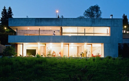 Concrete Prefab House in Switzerland