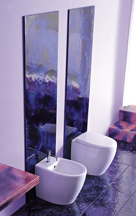 Purple Bathrooms By Franco Pecchioli Ceramica3 Ideas
