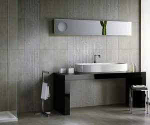 The Purple Modern Bathroom Design From Viva Ceramica · Thin Porcelain Tile  By Refin Design