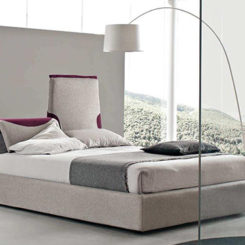 Logan Leather Bed With Adjustable Headboard - Logan-leather-bed-with-adjustable-headboard