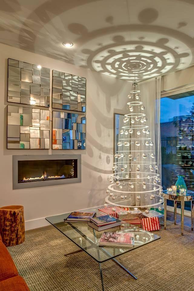 Modern Christmas Trees Decorated.Modern Christmas Tree Alternatives