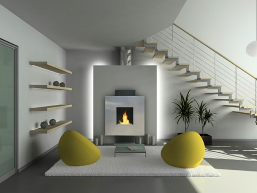 fireplace modern design.  Modern Affordable Ventless Fireplaces