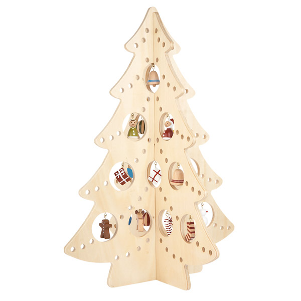 the wooden tree - Wooden Christmas Tree Decorations