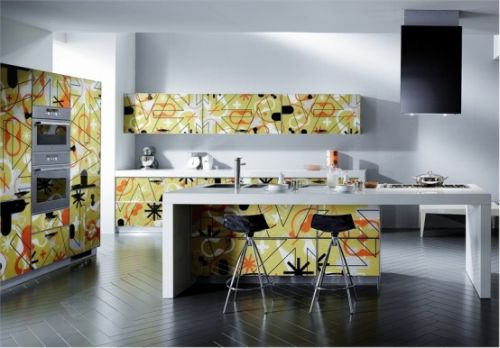 Crystal Modern Kitchen Designs by Scavolini1