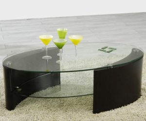 Dark and Cherry Modern Coffee Tables