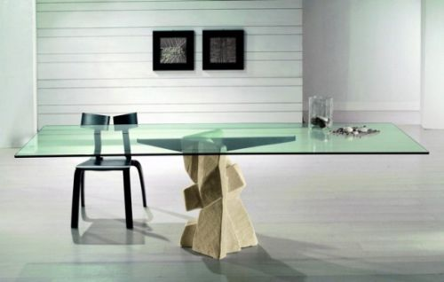 Dining Table with Stone Base by Vicenza Shapes5