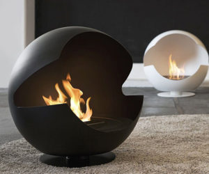 Floor and wall fireplace ideas by Vauni
