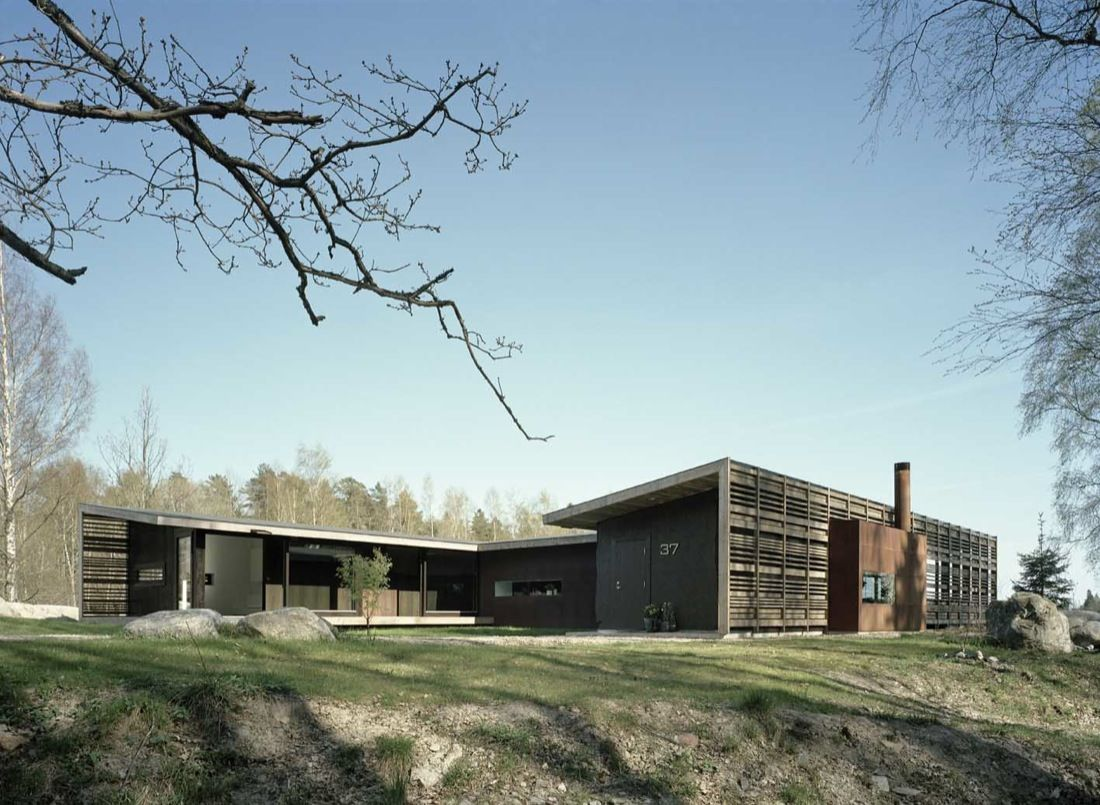 H shaped house designed by the wind the views - Danish style house plans modern shaped tradition ...