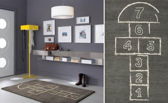 hopscotch rug for kids room. Black Bedroom Furniture Sets. Home Design Ideas