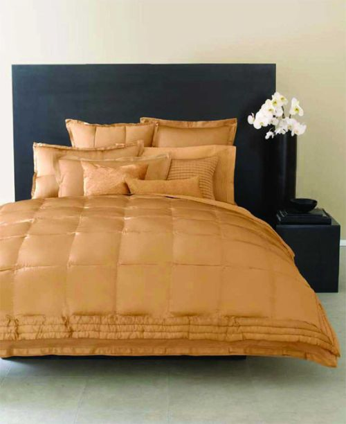 Luxury Rose Gold Bedding Collection From Donna Karan