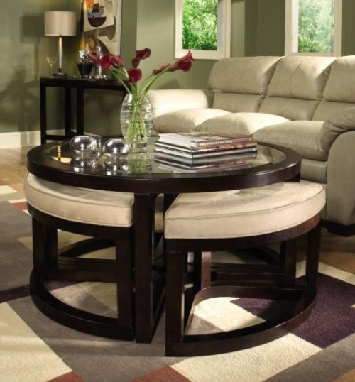 Ottoman Round Table for Small Spaces