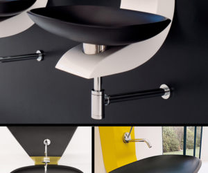 Wash Basin in Black Corian