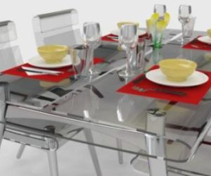 Transparent EVA Table Dining Room Set