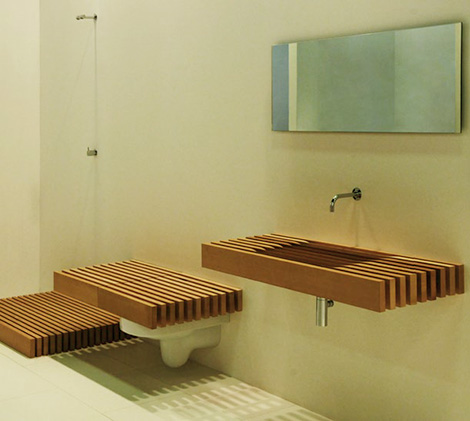 One disappearing bathroom collection by Rapsel