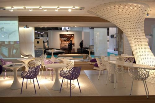 Restaurant interior design at wt hotel italy