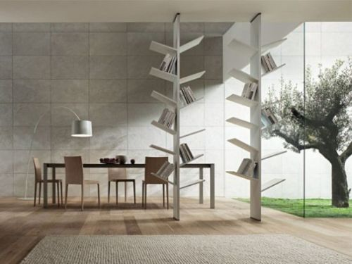 Bookshelves inspired from nature