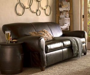 Difference Between Leather Match And All Leather Furniture · High Quality  Manhattan Leather Sofa