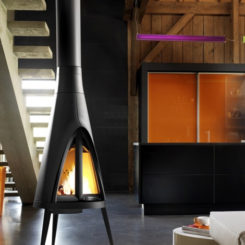Comfortable Wood Fireplace By Invicta