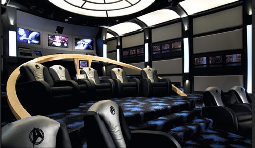 Beautiful Star Trek Home Theater Theme Design Ideas