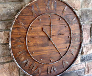 Classic wood and metal clock