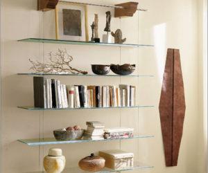 Nuvola Hanging Glass shelves