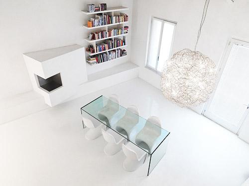 Modern Loft Interior Design Adoring The White Color Theme