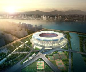 Hangzhou Sports Park is a Beautiful Flower-Shaped Stadium in China