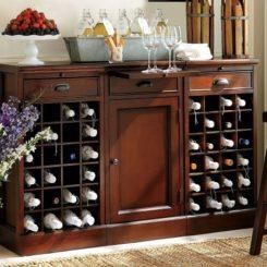 Practical Trieste Wine Storage Table