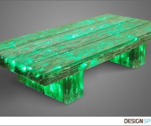 Railway Sleeper Inspired Light Beam Coffee Table