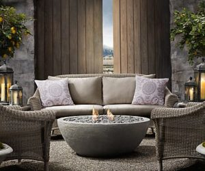 Outdoor Fireplace from Restoration Hardware