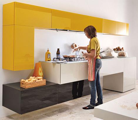 Lago admires the brighter color options for the modern kitchen for Cocinas modernas fotos precios