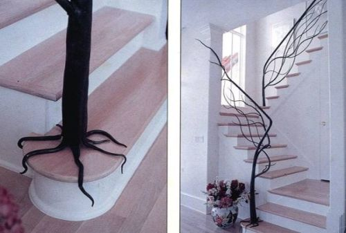 Tree Railing Idea For Incorporating Nature Into Your Decor