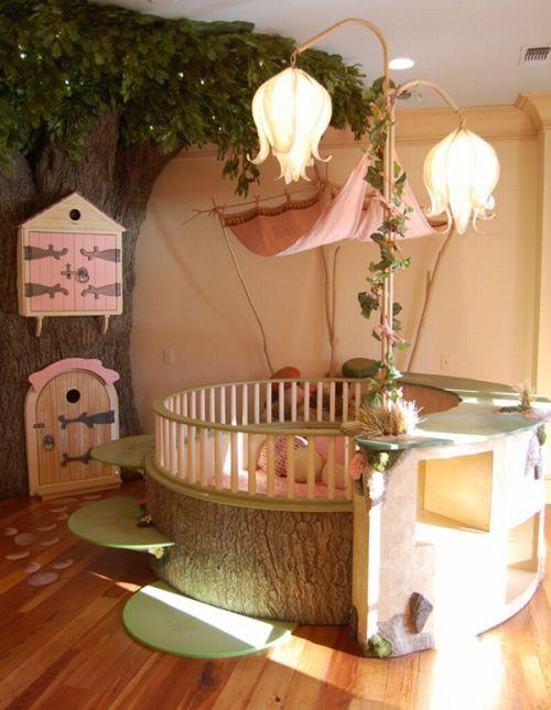 amazing girls bedroom ideas | Amazing Pink Girls Bedroom Ideas With Indoor Tree