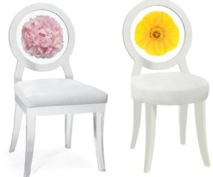 Amazing Decorative Floral Print Chairs From Floral Art Nice Look