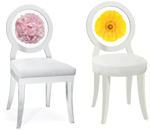 Decorative Floral Print Chairs From Floral Art