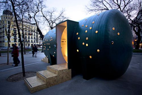 The Entire Pavilion Was Made Using A Pre Built Glass Fiber Reinforced  Polyester Water Tank That Has An Overall Volume Of 28m Cubed. The Design  Also Features ...