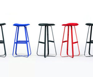 Patch chair and stool by Benjamin Hubert