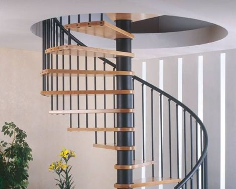 Round staircase designs interior staircase gallery for Round staircase designs interior
