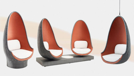 Philippe Starck Designed Lounge Chairs from Dedon