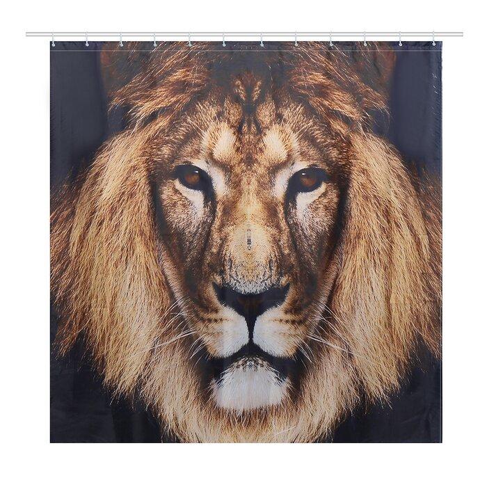 A Bold Lion Shower Curtain